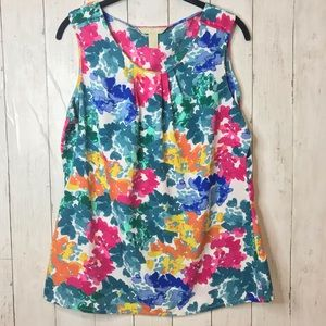 Banana Republic Sleeveless Floral Tank Top L NWT